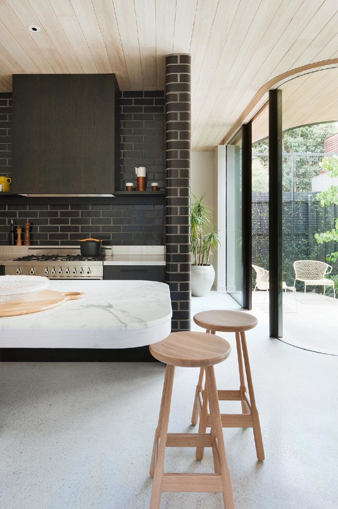 **Render it** But, if exposed brick isn't your thing, why not try rendering it instead? Here the bricks have been rendered in charcoal, leaving them with a more sleek visual appeal.