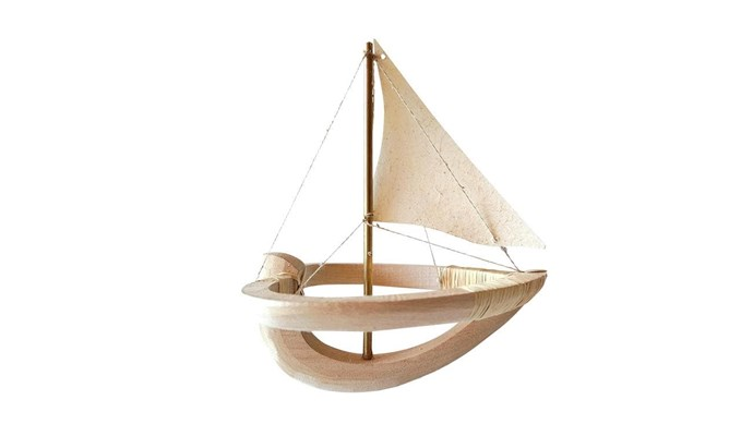 'Odette' miniature boat figure, $145, [Elise Cameron-Smith](http://www.elisecameron-smith.com.au/). _Photography by Craig Wall and Styling by Jono Fleming with assistance from Chrix Xi, Kayleen Thomas and Sandra Arena._