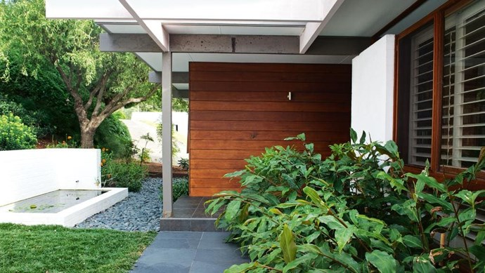 """""""The house has an element of Japanese design with all the glass and timber, which we wanted to incorporate into the coastal look,"""" says owner Alison Photographer: Brigid Arnott"""