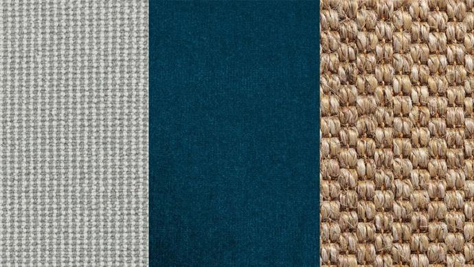 "**Carpet** (left to right): 'Wayfarer' wool carpet in Flinder, $56/sqm, *[Carpet Court](https://www.carpetcourt.com.au/|target=""_blank"").'Escape' velour wool carpet in Aisha, $115/sqm, [Supertuft](http://supertuft.com.au/