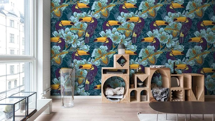 You don't have to break the bank to make a style statement! A hit of pattern goes a long way. Here are our top tips. 'Toucan' not go wrong with this stunningly tropical wall mural! The dramatic colours provide a rich palette, upping the style stakes of a transitional space. Try 'Toucans in the jungle' wall mural, £162, [PIXERS](http://pixersize.com/wallmurals/inspirations/tropikalna/6977).