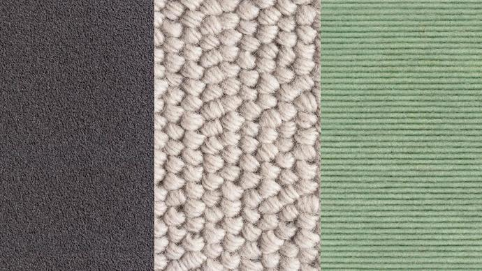 "**Carpet **(left to right): 'Maple Grove' nylon carpet in Recurve, $43/sqm, *[Carpet Court](https://www.carpetcourt.com.au/|target=""_blank""). 'Katachi' felted loop-pile wool carpet in Zen-Iro, $120/sqm, [Cavalier Bremworth](http://cavbrem.com.au/