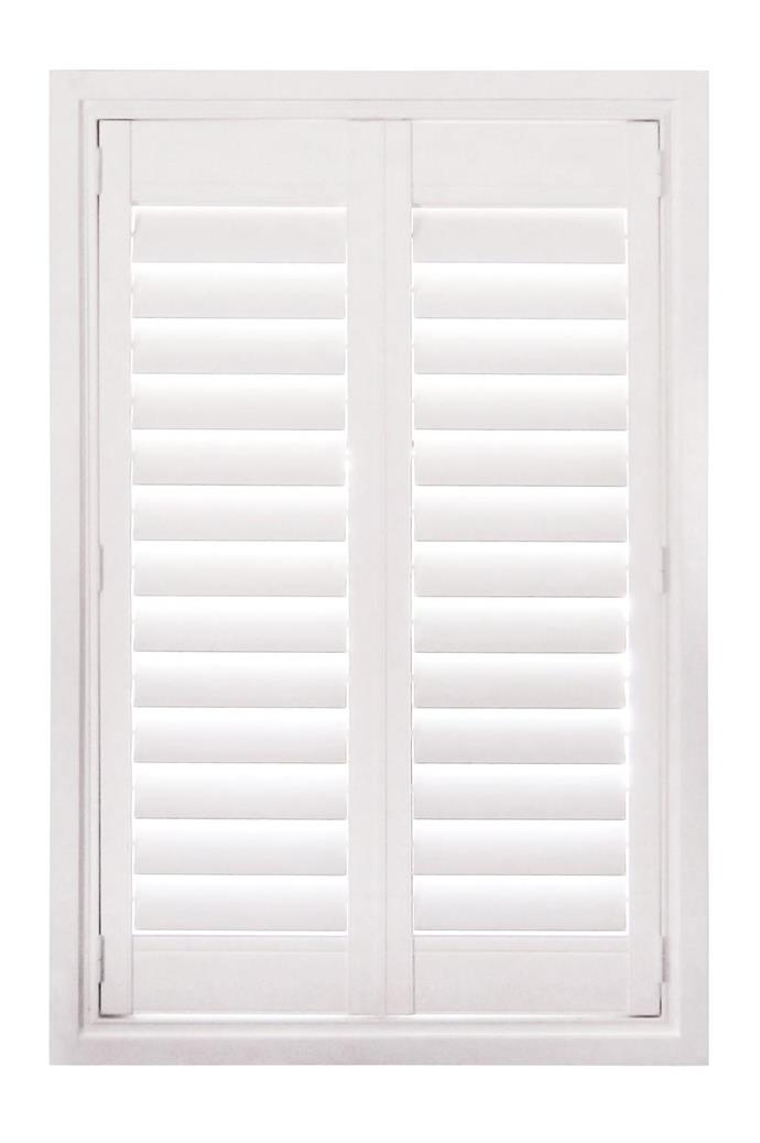 Maximise on privacy without minimising natural light with classic shutters. 'Newstyle' polyresin shutters, from $1700, [Luxaflex](http://www.luxaflex.com.au)