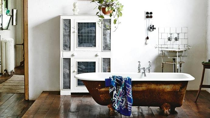 <strong>Vintage vibe</strong>. There is something very special about a claw-footed cast iron bath. Luxuriously large and with a pleasing patina, it's deserving of its podium position. This full-monty vintage style is hard to carry off in a contemporary home, but an old bath will happily sit in a modern bathroom, adding boatloads of character. Designed by Lynda Gardener, @lyndagardener on Instagram Stylist: Heather Nette King, Photographer: Derek Swalwell
