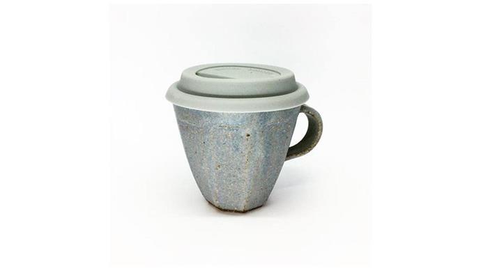 'Quarry' takeaway cup, $48, [Sophie Moran](http://www.sophiemoran.studio/).