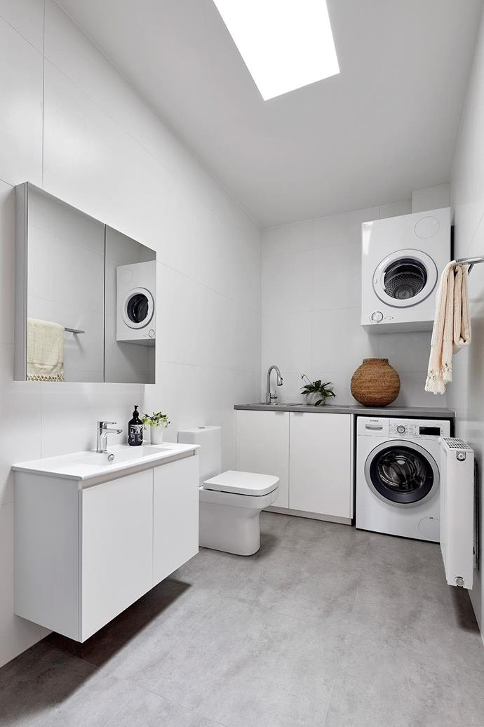 The couple also added a laundry, which neighbours the new pantry and storage space.  Project by [Architect Hewson](https://www.architecthewson.com/), Photography by [Jack Lovel](http://www.jacklovel.com/).