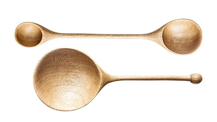 KR measuring spoon, $145, and ¼ cup wooden scoop, $125, [Kara Rosenlund](http://shop.kararosenlund.com/).