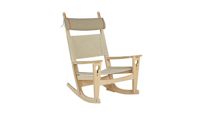 Getama 'Keyhole' rocking chair by Hans Wegner, from $7250, [Great Dane](https://greatdanefurniture.com/).
