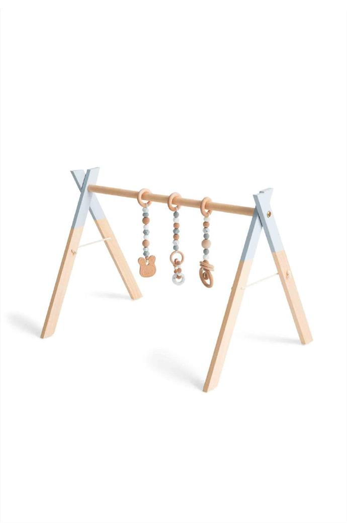 Play gym, $59, and toys, $70, [Lilah & Co.](https://www.lilahandco.com.au/)