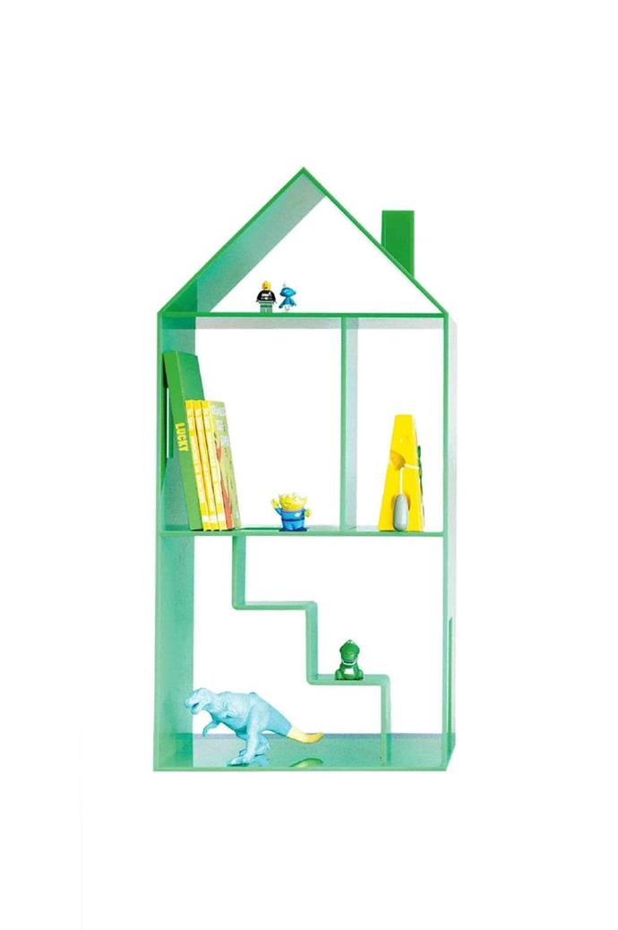 Consider an alternative to bedside tables and go with something a little more exciting! This verdant green playhouse is the perfect spot to store beloved books and favourite toys. 'Attic House' playhouse in Scout, $297, [Mint Rhapsody](http://mintrhapsody.com.au/)