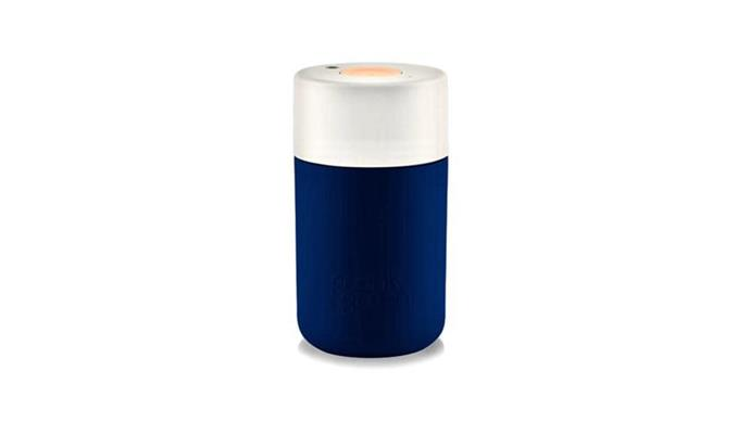 Frank Green 'Next Generation SmartCup' cup in Little Boy Blue, $39.95, [Until](http://www.until.com.au/).