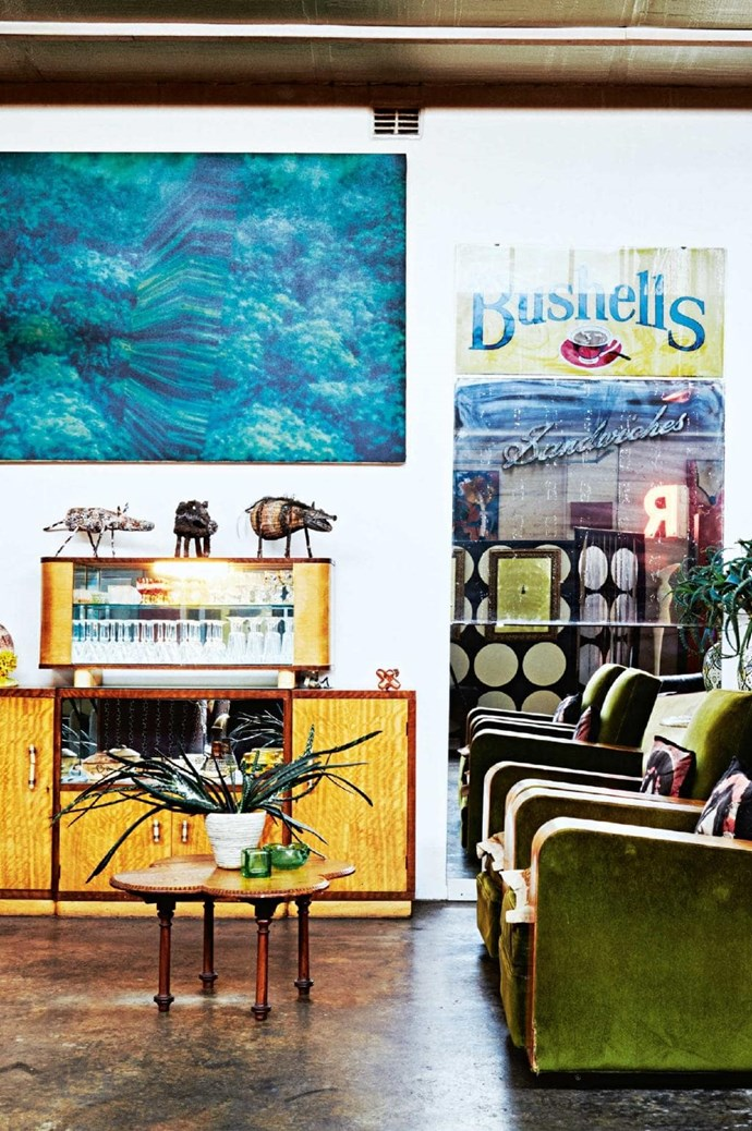 Eclectic artwork might seem like it'll clash here, but mixing prints and colours actually makes this wall a feature in itself Photographer: Harold David, Stylist: Jane Frosh