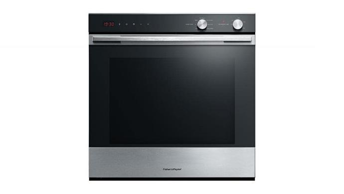 Electric oven: Fisher & Paykel 'OB60SL7DEX1' 60cm stainless-steel oven with self-cleaning function, $1449, [Appliances Online](http://appliancesonline.com.au)