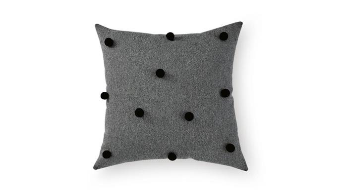 **The finishing touch** Create a soft and inviting sleeping zone with the addition of a plush cushion. Pompom cushion cover, $40, [&inkco.](https://andinkco.bigcartel.com/)