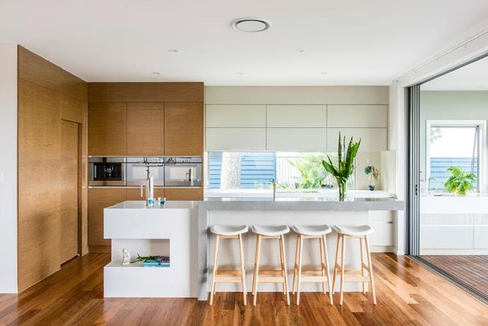 """Out of sight, out of mind, right? A butler's pantry sits behind a sliding door making it easier to ignore dirty dishes or untidy shelves. Design by [Darren James Interiors.](http://www.darrenjames.com.au/