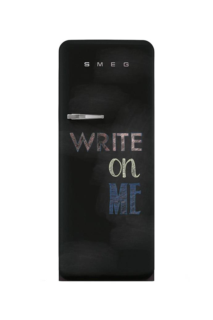 Blackboard FAB With a creative spin on leaving notes on the fridge for the family, this fridge is coated entirely in a special blackboard-effect paint. [Visit Smeg](http://www.smeg.com.au/).