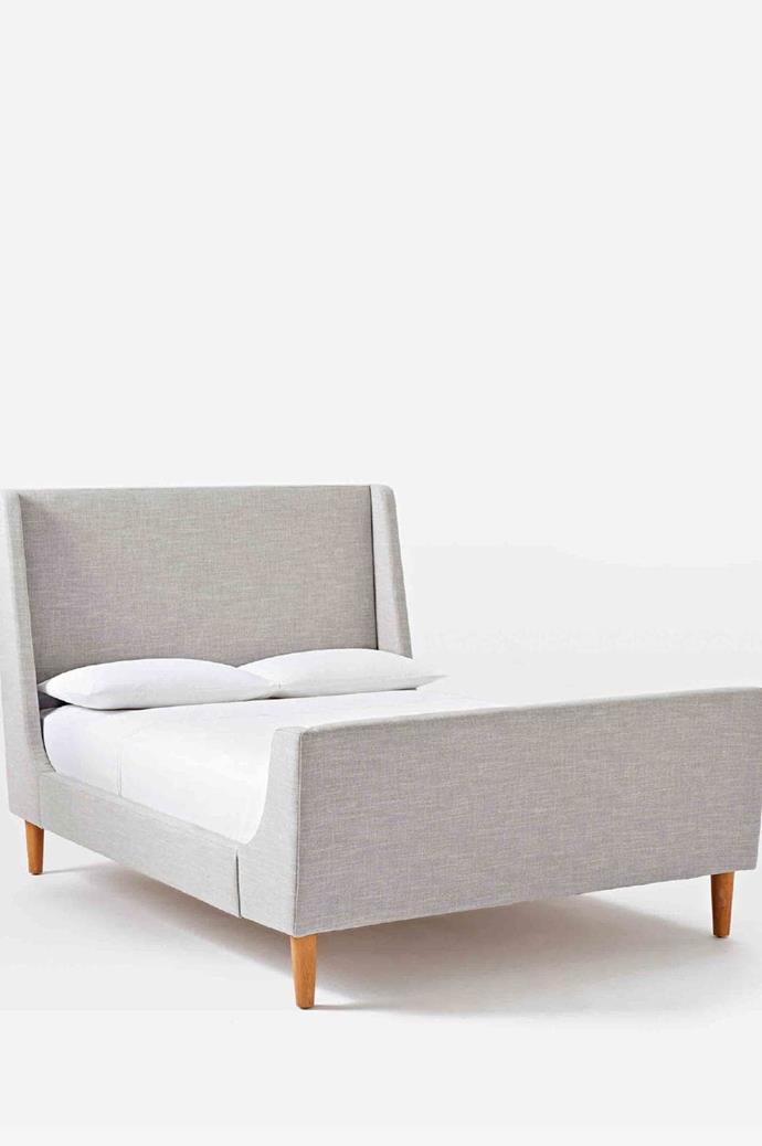 Upholstered sleigh bed, $1399/double, [West Elm](http://www.westelm.com.au/)