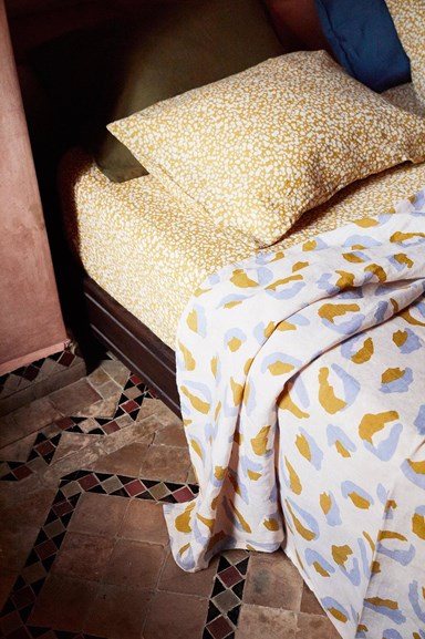 Sage x Clare's new bed linen collection is vibrant and playful