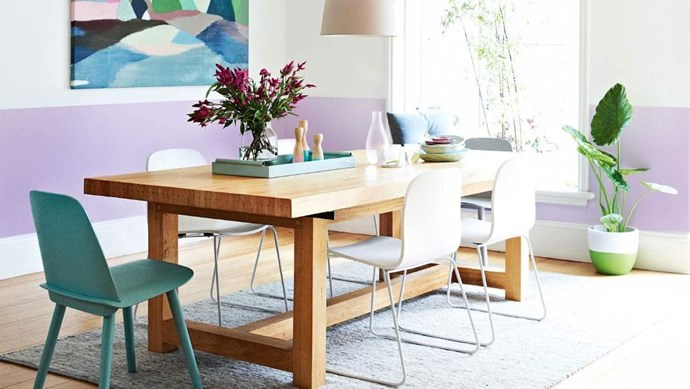 The artwork in this dining room inspired the choice of furniture and accessories to create a cohesive and considered look. Painting: [Belynda Henry](http://www.belyndahenry.com/Site_2_belyndahenry.com2011/BELYNDA_HENRY.html) Walls painted by Christopher Watterston Stylist: Julia Green, Photographer: Armelle Habib