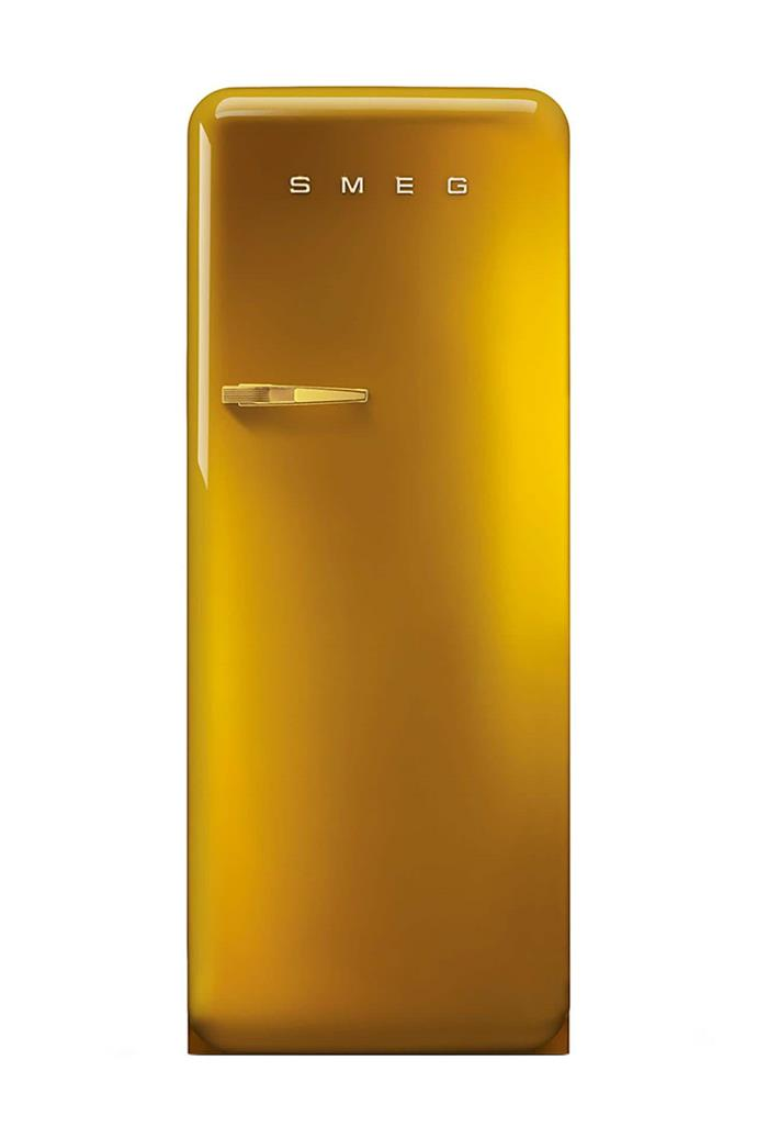 **Golden FAB** Taking the meaning of luxury to a new level, this fridge is finished in striking gold from head, to toe, to handle. The SMEG Logo here is made with Swarovski Elements crystals. [Visit Smeg](http://www.smeg.com.au/).