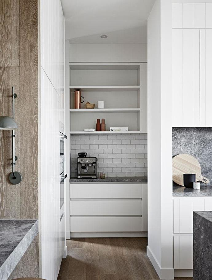 "**Butler's pantry:** If you want extra room for preparation, storage and cleaning up, consider a 'kitchen within a kitchen'. Yes, it's a luxury, but the fact that more people than ever are entertaining at home means the [butler's pantry](https://www.homestolove.com.au/butlers-pantry-design-ideas-17450|target=""_blank""