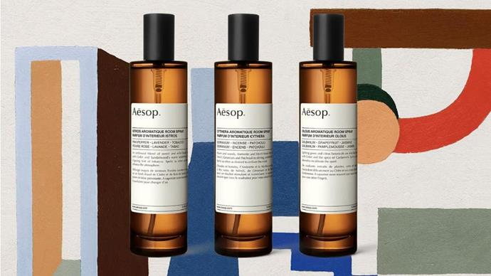 Hooray, [Aesop](https://www.aesop.com/au/) has introduced its first range of room sprays! The Australian label is known for its skincare lines but their foray into home care has everyone talking. Three profile scents – Istros, Cythera and Olous – act to stimulate the senses by using a mix of plant extracts and botanical aromas. To celebrate its arrival, each scent is accompanied by the music of American composer and musician [Jesse Paris Smith](http://www.jesseparissmith.com/bio/), who's composed three original tracks inspired by each fragrance – [listen to it here](https://www.aesop.com/au/roomsprays). Read on to discover which scent best suits you...
