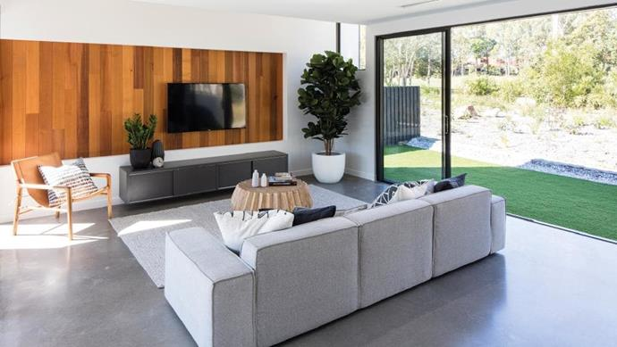 Open-plan spaces give this home a spacious feel.