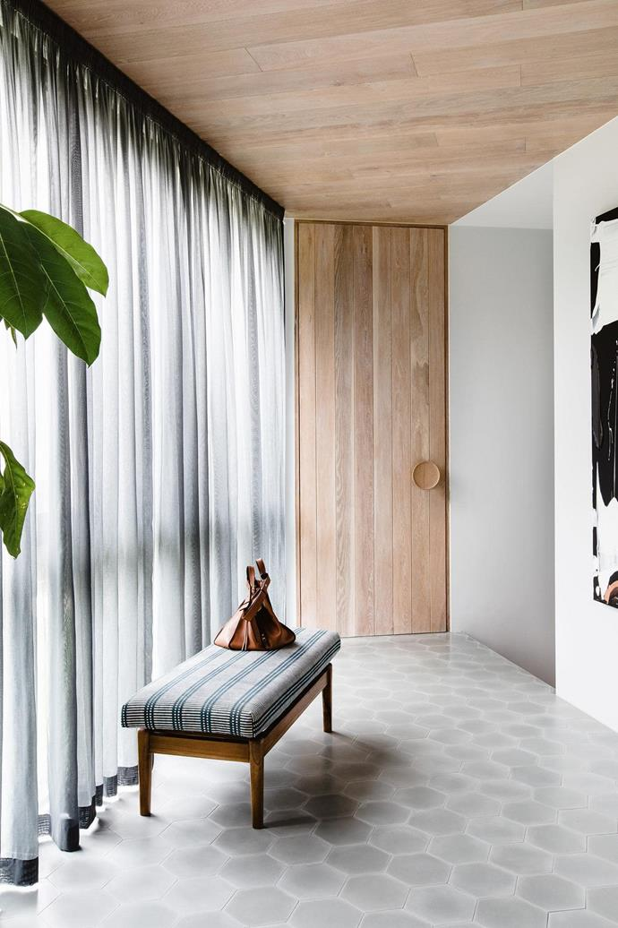"*Design: *[Studio Ezra](https://www.studioezra.com/|target=""_blank""). 'V23' encaustic cement tiles in 2004, [Tiles Of Ezra)](https://www.tilesofezra.com/|target=""_blank"")"