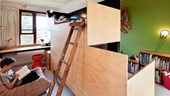 Clever design created two kid's bedrooms from one