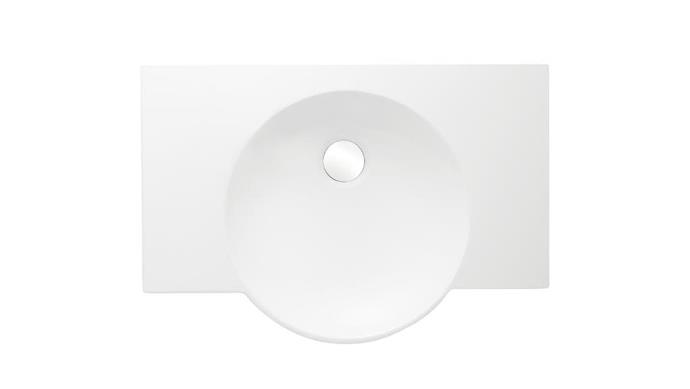 "'Spherik' wall-hung vitreous china basin with integrated countertop, $570, [Kohler](http://au.kohler.com|target=""_blank""