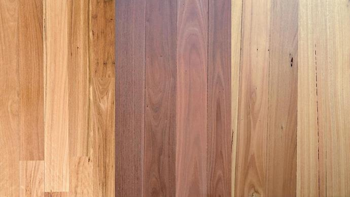 "**Solid timber **(left to right):  Boral solid 19mm Australian hardwood flooring in Blackbutt, from $51/sqm, *[Floorboards Online](http://www.floorboardsonline.com.au/|target=""_blank""). Brushbox timber floorboards, from $154/sqm (supplied, installed and finished), [Precision Flooring](http://precisionflooring.com.au/