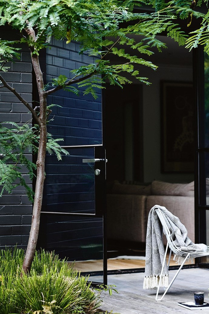 "**Monochrome with colour** [Kerb appeal](https://www.homestolove.com.au/kerb-appeal-ideas-for-styling-your-home-exterior-18991|target=""_blank"") is one thing, but don't forget to consider the back of your home, too, which may need a different treatment to what you have at the front. Look to the existing natural and man-made elements such as [decking](https://www.homestolove.com.au/balcony-and-deck-design-ideas-2458