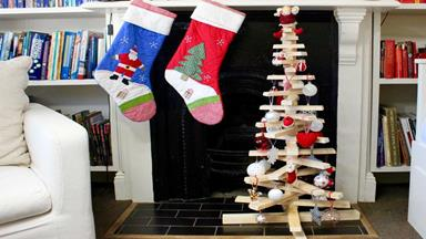 Christmas DIY project: how to make a timber tree