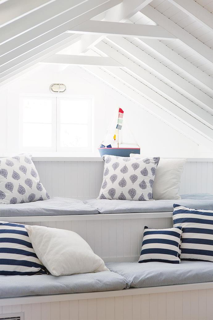 """Is there such a thing as too many panelled walls or cornices? Not when it comes to [Hamptons style](https://www.homestolove.com.au/how-to-design-a-hamptons-style-home-6471