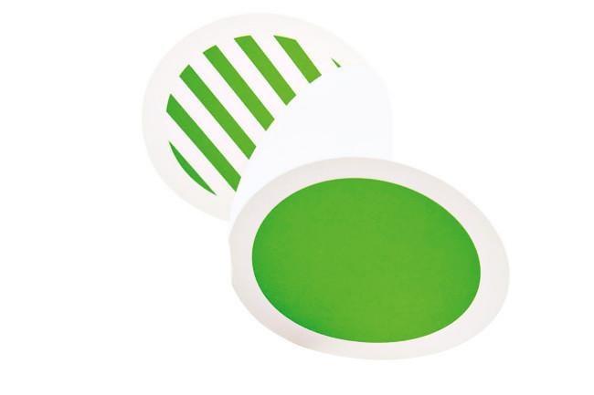 Neon green circle card, from [Lox+Savvy](http://www.loxsavvy.com.au/).