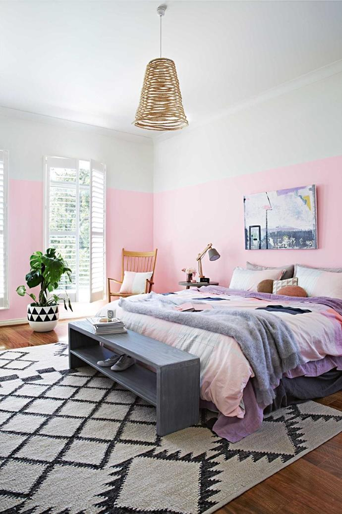 "Add a [slimline bench](https://www.homestolove.com.au/bench-seats-21666|target=""_blank"") to the end of your bed and you'll gain extra space to store anything from books and magazines to shoes and handbags. <br><br>**TIP**: Choose a design that is the width of your bed and has at least two shelves to [maximise bedroom storage space](https://www.homestolove.com.au/ikea-bedroom-storage-ideas-20161