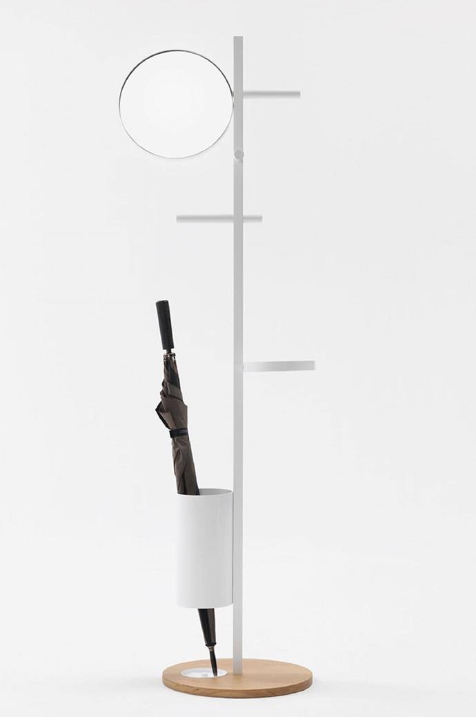 "'Rain' coat stand, $1321, [Jardan](https://www.jardan.com.au/product/rain/|target=""_blank""|rel=""nofollow"")"