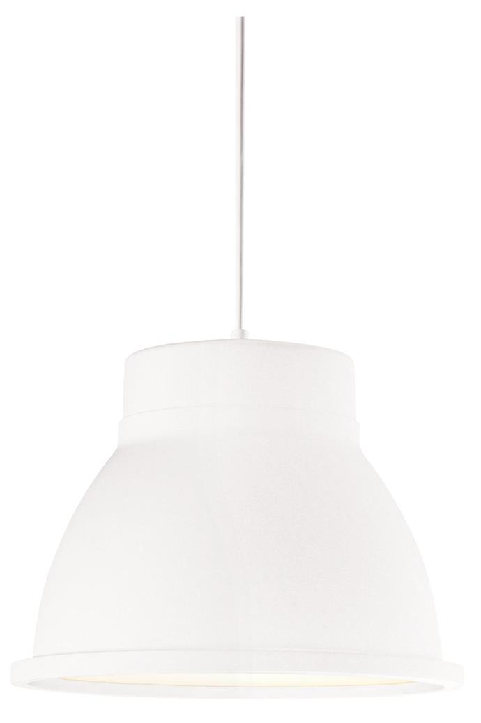 White additions add to a space's peaceful look. Muuto 'Studio' pendant light, $507, [Living Edge](http://livingedge.com.au/)