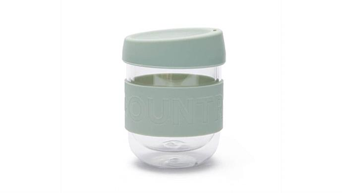 'Nia' reusable cup in Pale Seafoam, $19.95, [Country Road](https://www.countryroad.com.au/).