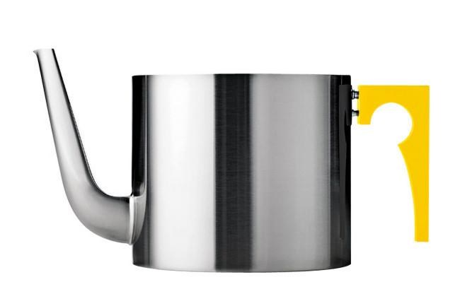 1.25L yellow teapot from the 'Addcolour' range for Stelton by [Paul Smith](http://www.paulsmith.co.uk/shop/home/).