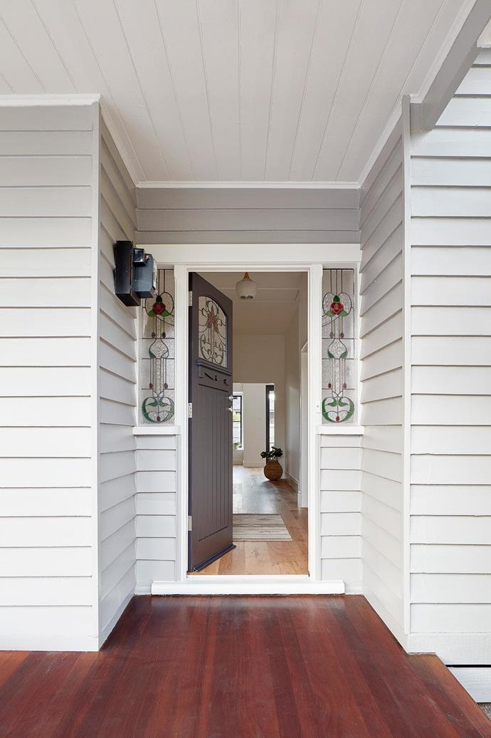 A new entry hallway was inserted between two bedrooms. The architects' key challenge was deciding how much of the original structure to retain, as working on the house's existing parts would have easily chewed up the budget.  Project by [Architect Hewson](https://www.architecthewson.com/), Photography by [Jack Lovel](http://www.jacklovel.com/).