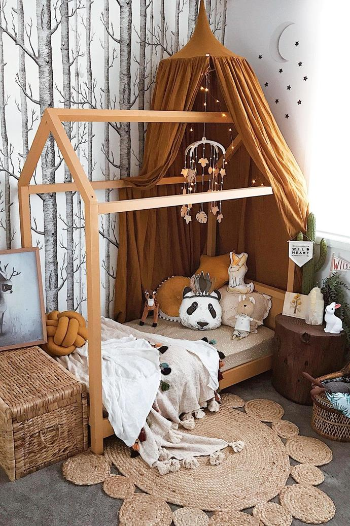 **Personal spaces: highlighting passions & hobbies** Nurture growing minds with a room tailor-made to their passions. If they're consumed by adventure, a world map and treasure chest of toys will inspire their imagination, while nature-lovers will adore a forest-inspired space. Team printed wallpaper with a timber-framed bed to create a magical, mysterious canopy overhead. Natural textures, a colourful mobile and playful accessories and toys will complete the look. _Photography and styling: [Tahnee Pownall](https://www.instagram.com/homeofthewildlings/)_.