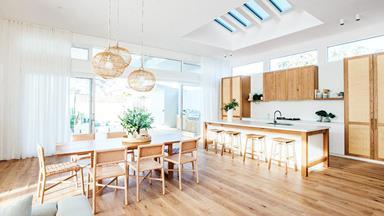 The Block's Kara and Kyal transformed this fibro shack into a contemporary family home