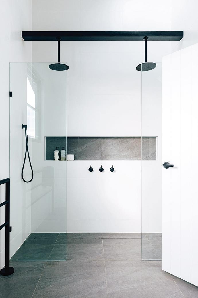 "There's a reason why black and white is often the go-to colour scheme for bathrooms. The chic colour combination always manages to make a [bathroom feel modern and timeless](https://www.homestolove.com.au/10-timeless-black-and-white-bathrooms-4583|target=""_blank"")."