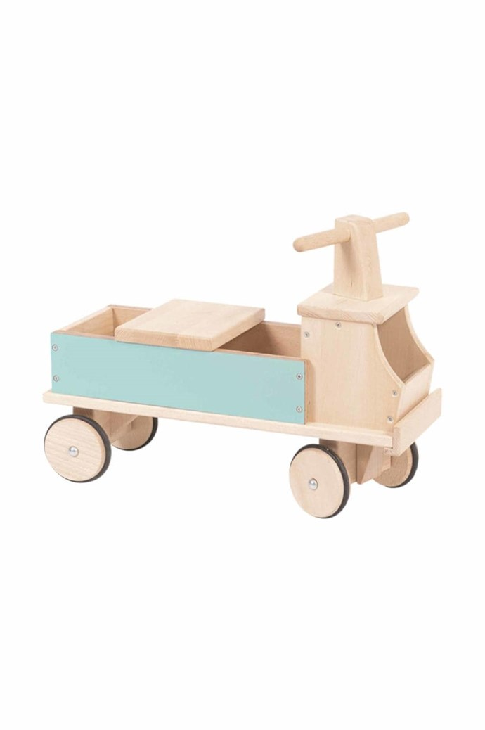 Moulin Roty ride-on truck, $330, [Play Imports](http://www.playimports.com.au/)