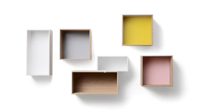 """Muuto 'Mini Stacked' shelf system, from $215, [Surrounding Australia](https://surrounding.com.au/mini-stacked-shelf-system/
