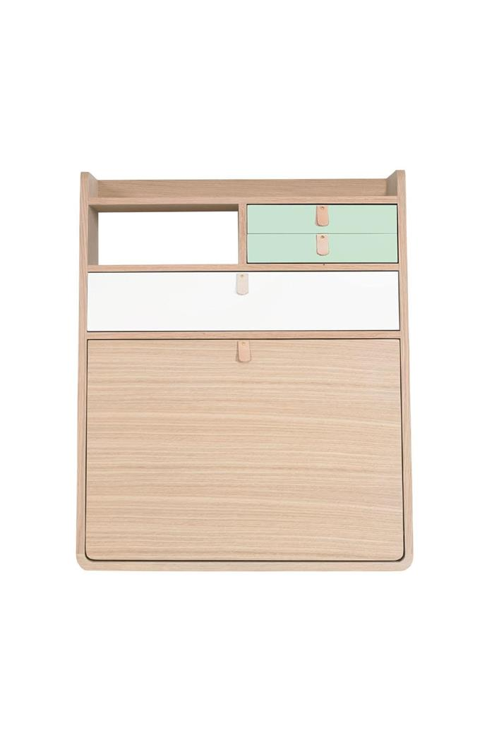 Channel this family's style with these 5 great finds. #1: Hartô 'Gaston Wall Secretary' desk, $1070, [Clickon Furniture](http://www.clickonfurniture.com.au/)