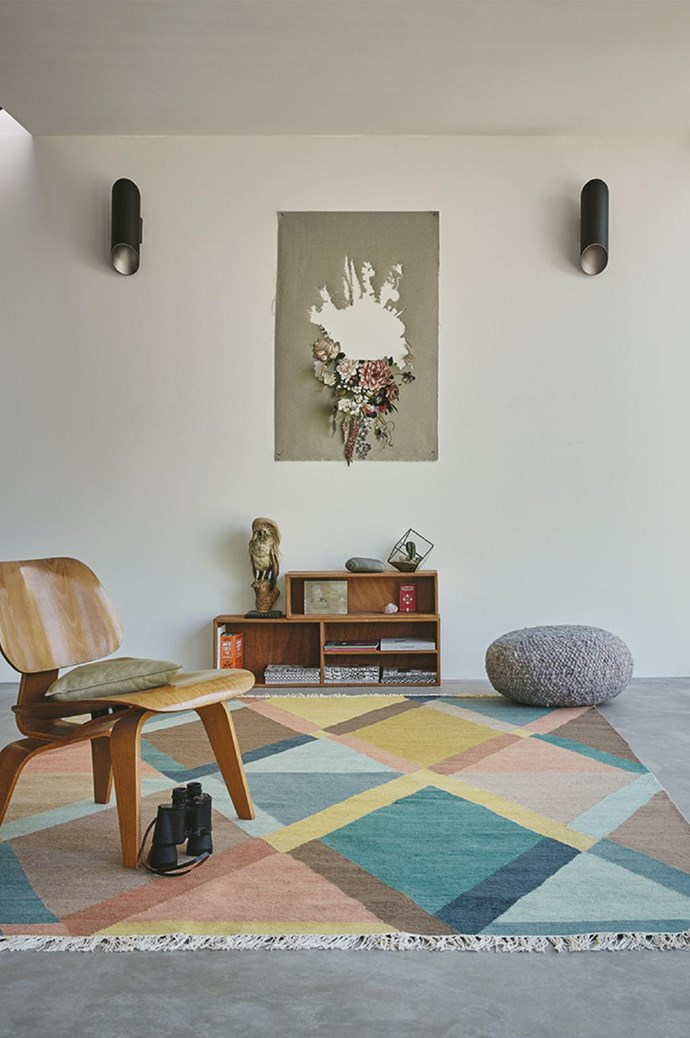 Not sure if a bold pattern will work with your interior? Start with a large-print patterned floor rug like the 'Kashbah Jewel' rug, £239, from [The Rug Seller](http://therugseller.co.uk/). Not only does it compliment most colour schemes, the large print pattern will make your space feel bright and spacious.