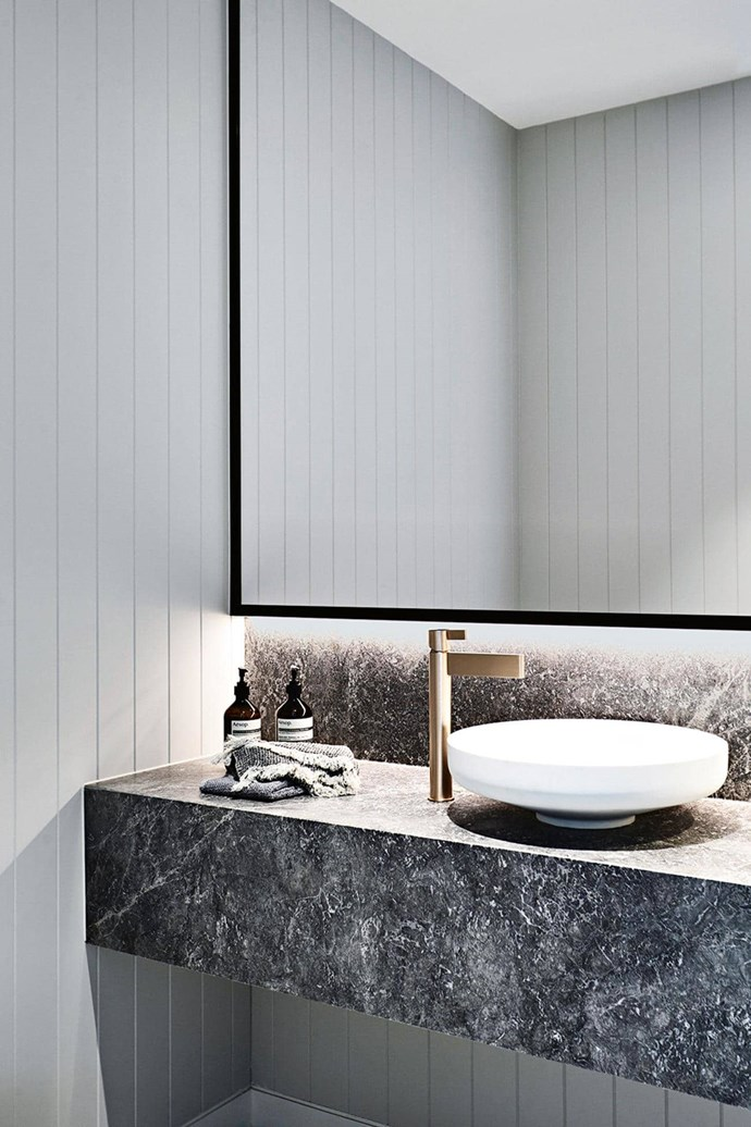 """[Brass tapware](https://www.homestolove.com.au/beautiful-brass-must-haves-2540