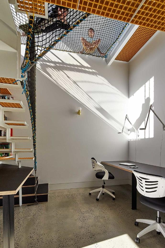 """A tall studio was built with a [floor-to-ceiling bookshelf](https://www.homestolove.com.au/how-to-style-a-bookshelf-19499